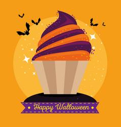 Sweet candy happy halloween vector