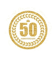 Template Logo 50 Years Anniversary vector