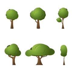 Trees for game design vector