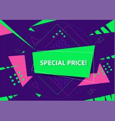 trendy flat geometric vivid banner design vector image
