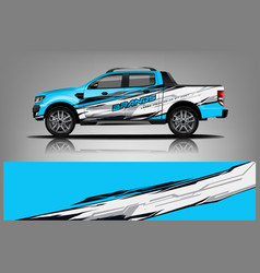 Truck wrap design for company vector