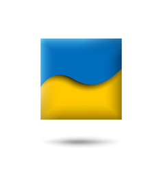 Ukraine flag icon in shape square waving vector