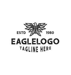 vintage eagle emblem logo template vector image