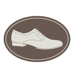 Vintage men shoe label vector