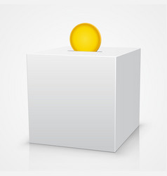 white box piggy bank with a coin vector image