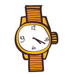 wristwatches clipart color on a white background vector image