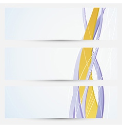 Bright business cards collection - golden line vector image vector image