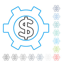 financial settings contour icon vector image vector image
