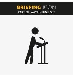 Briefing icon vector image vector image
