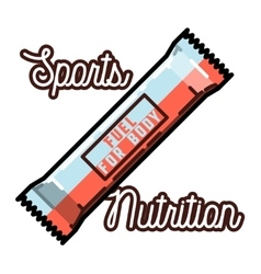 Color vintage sports nutrition emblem vector image vector image