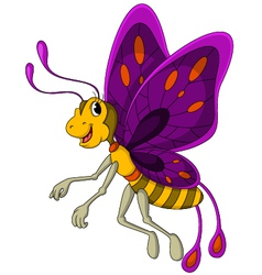 cute Butterfly cartoon vector image