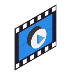 Filmstrip 3D isometric icon vector image