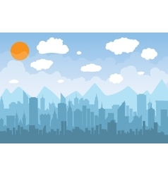 Morning city skyline vector image vector image