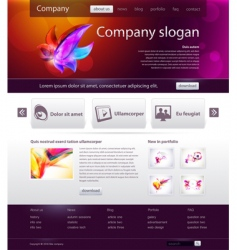 web site design template vector image vector image
