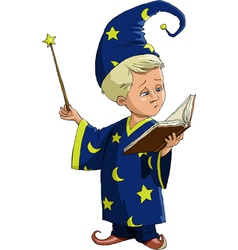 young wizard vector image