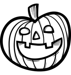 halloween pumpkin cartoon for coloring vector image vector image