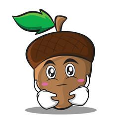 have an idea acorn cartoon character style vector image vector image