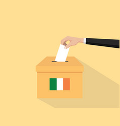 ireland election vote concept with vector image