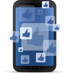 mobile social networking vector image vector image