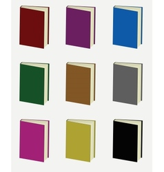 Set of colorful books vector image vector image