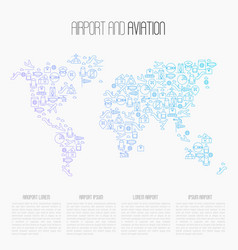 airport and aviation tourism concept vector image