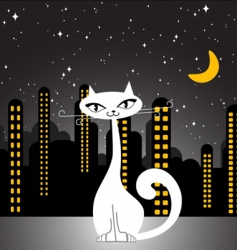 city cat vector image