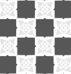 Geometrical Arabian ornament with shades of gray vector image vector image