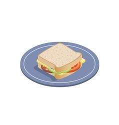 isometric of sandwich vector image