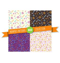 memphis pattern seamless collection vector image vector image