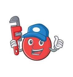 Plumber bowling ball character cartoon vector