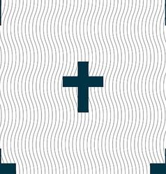religious cross Christian icon sign Seamless vector image
