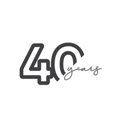40 years anniversary celebration number template vector