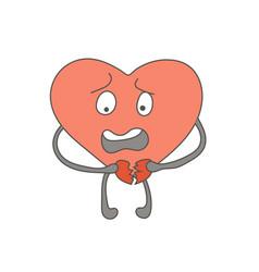 A shocked heart character destroys an attitude vector