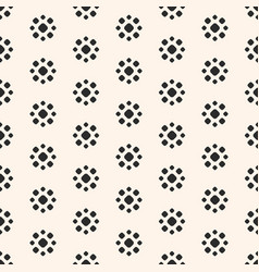 Abstract dotted seamless pattern simple floral vector