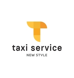 Abstract geometrical Taxi Service vector image