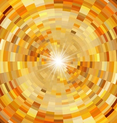 Abstract orange mosaic background vector