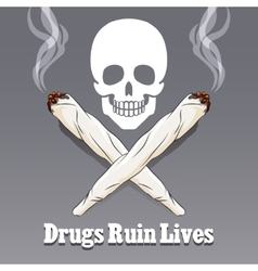 anti drug poster vector image