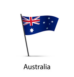 australia flag on pole infographic element vector image