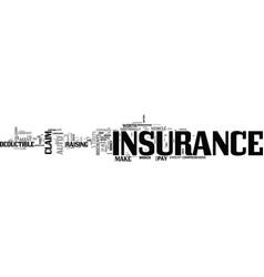 Auto insurance tips text word cloud concept vector