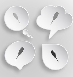 Awl white flat buttons on gray background vector