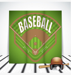 baseball tri-fold brochure vector image