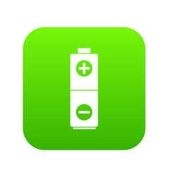 battery icon digital green vector image