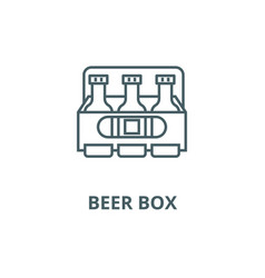 beer box line icon beer box outline sign vector image