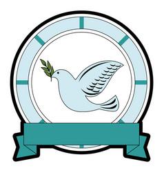 bird of peace emblem vector image