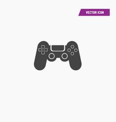 Black playstation remote controller icon vector