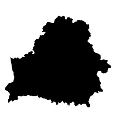 Black silhouette country borders map of belarus vector