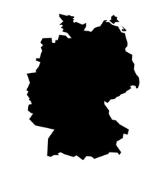 Black silhouette map of Germany vector