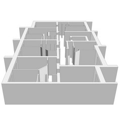 Building plan vector