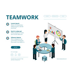 business meeting landing company managers vector image