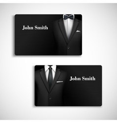 Businessman suit card set vector